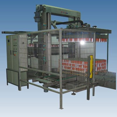 Depalletizing machine for jars and cans