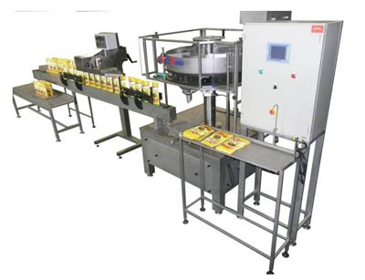 Semiautomatic filling machine for Bags type doy- pack.