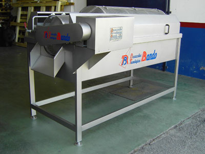 Blancher machines for product, rotative and horizontal models